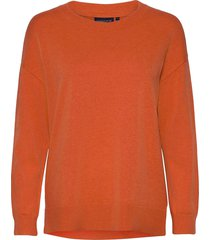 lizzie cotton/cashmere sweater sweat-shirt trui oranje lexington clothing