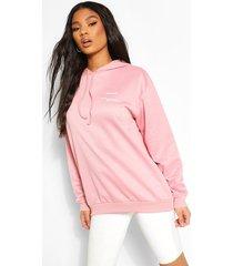 'wear me' slogan hoodie, pale pink