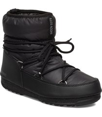 mb low nylon wp 2 shoes boots ankle boots ankle boot - flat svart moon boot