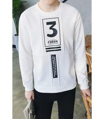 popular series letter o neck men pullover hoodies