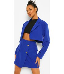 korte oversized blazer, royal