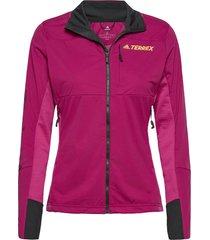 agr xc j w outerwear sport jackets rosa adidas performance