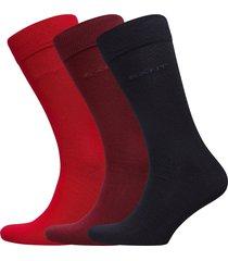 3-pack soft cotton socks underwear socks regular socks röd gant