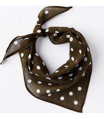 loft polka dot triangle bandana