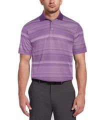 pga tour men's faded stripe jacquard polo shirt