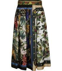 dolce & gabbana high-waist printed skirt