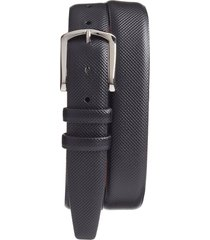 men's big & tall torino bulgaro calfskin leather belt, size 46 - black