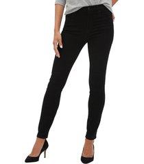 jeans legging tiro alto black wash negro gap