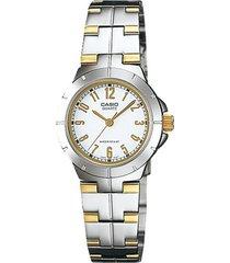 reloj casio ltp_1242sg_7a multicolor acero inoxidable