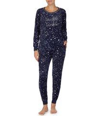 women's kate spade new york long sleeve pajamas, size x-large - blue