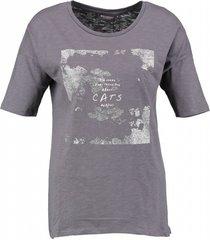 broadway grijs t-shirt met glitteropdruk