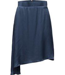 slip skirt knälång kjol blå valerie