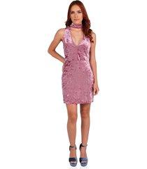 vestido corto sin mangas de mujer vestimenta vw173-1117-759 rosa