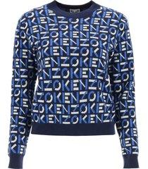 kenzo monogram jacquard sweater