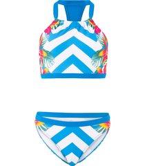 bikini con bustier (blu) - rainbow