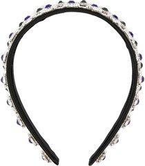 christopher kane crystal embellished headband - black