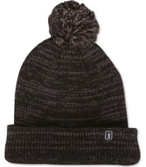 pga tour men's heathered pom pom beanie