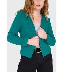 blazer io verde - calce regular