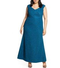 plus size women's eliza j glitter mermaid gown