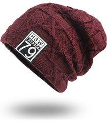 berretto in velluto di lana da uomo vogue a maglia cappello da elastico caldo in lana da uomo