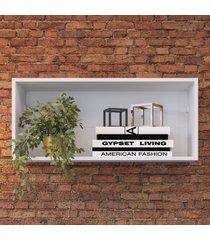 nicho de decoração retangular ae080 branco - art in móveis
