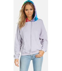kiko le hoodie - lavender/rainbow l