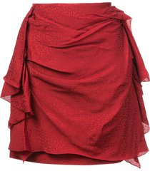 carmen march draped mini skirt - red