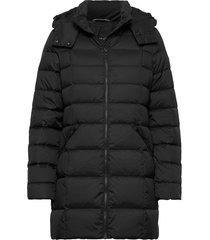 d2. classic down long jacket gevoerd jack zwart gant