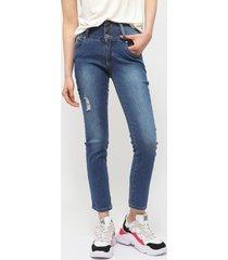 jeans il gioco azul - calce ajustado