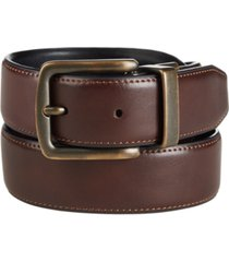 club room men's reversible stretch casual belt, created for macy's