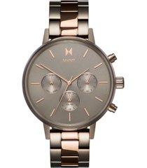 mvmt women's nova orion titanium & rose gold-tone stainless steel bracelet watch 38mm
