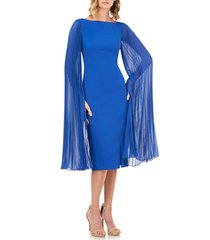 women's kay unger angelica statement sleeve cocktail dress