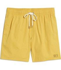 men's rvca men's opposites 2 swim trunks, size medium - yellow