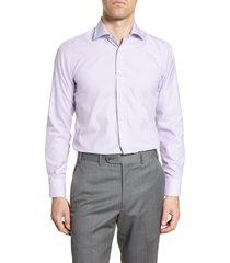 men's canali impeccabile regular fit plaid dress shirt
