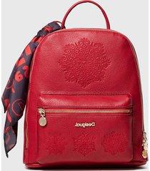 mochila nazca mini rojo desigual