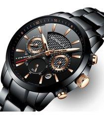 crrju orologio da uomo impermeabile calendario orologi cinturino in acciaio inox orologi al quarzo