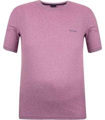 camiseta plus size malha tang rosa - kanui