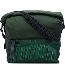bottega veneta paper touch nylon messenger bag - green