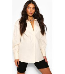tall lange blouse, steenrood