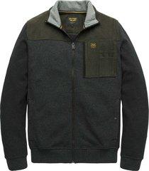 zip jacket structure sweat anthracite