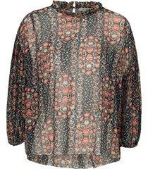 blus floral pleat blouse