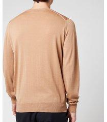 john smedley men's clundy crewneck sweatshirt - hazlenut - xxl