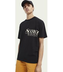 scotch & soda artwork print crewneck organic cotton t-shirt