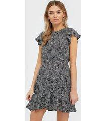 ax paris short sleeve mini dress klänningar