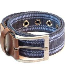 cinto em algodão e ponteiras isiero assortment belt azul marinho