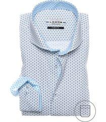 ledub modern fit overhemd donkerblauw motief