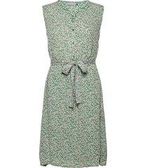 fralcrinkle 3 dress knälång klänning grön fransa