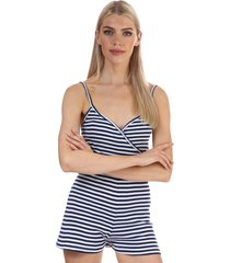 womens striped playsuit