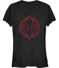 star wars women's rise of skywalker sith trooper logo t-shirt