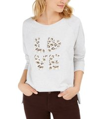 style & co cotton graphic sweatshirt, created for macy's